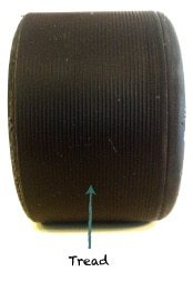 Roller Skate Wheel Tread