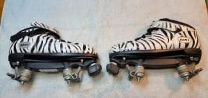 Remove all of the wheels from your roller skates