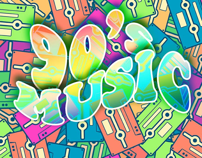 90s music collage